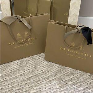 Burberry Shopping Bag! Cream Ribbon